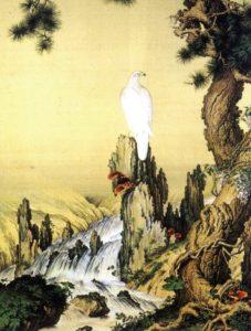 Lang Shi-zhu: A Song-hegy sólyommal és Ganodermával