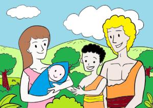 Egészséges boldog család