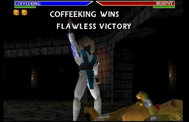 Mortal Kombat Rayden vs Scorpion Flawless Victory átszerkesztve Kávékirály (Coffeeking) wins-re