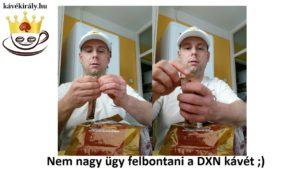 Nem nagy ügy felbontani egy tasak DXN gombáskávét