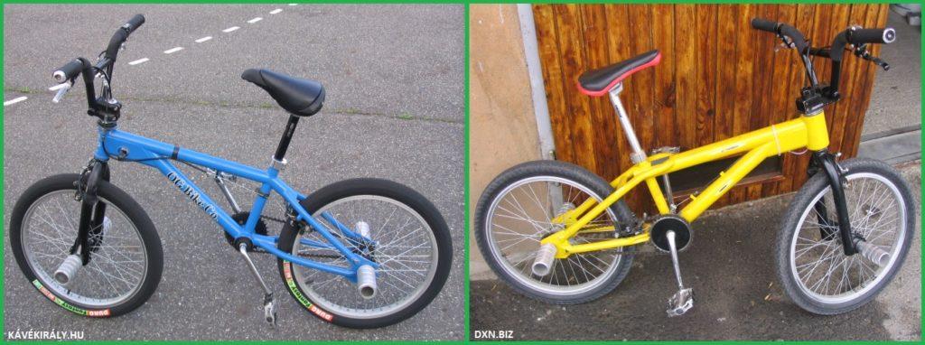 Régi BMX Flatland biciklijeim: kék O.G. Essence és sárga O.G. Balance