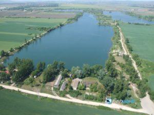 Csorba tó, Miskolc, madártávlatból