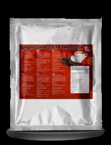 Három az egyben Ganoderma gyógygombás kávé nádcukorral és növényi tejporral