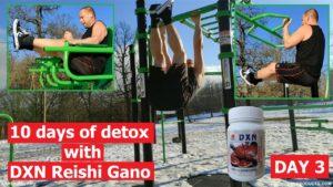 Edzés egy szabadtéri edzőteremben, majd Ganoderma Megadózis