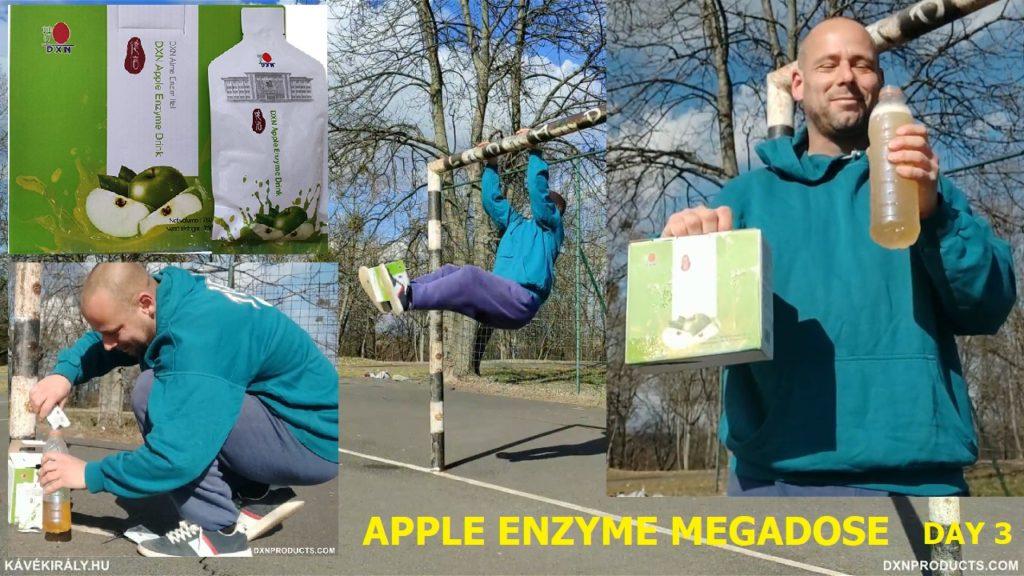 Utcai edzés és DXN Apple Enzyme Drink keverés