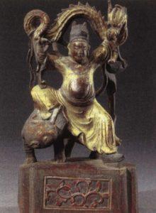 Szun Szimiao, a gyógyítás istene. Tang-dinasztia idejének szobra
